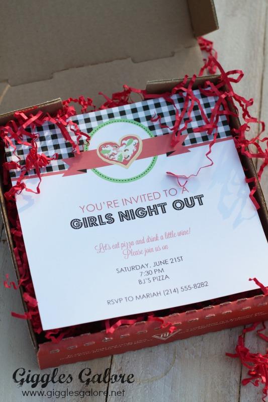 GNO Pizza Box Invitation