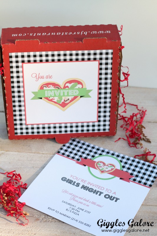 Girls Night Out Pizza Invitation