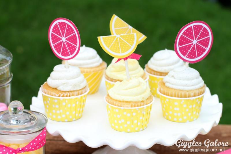 Lemonade Stand Cupcakes Giggles Galore