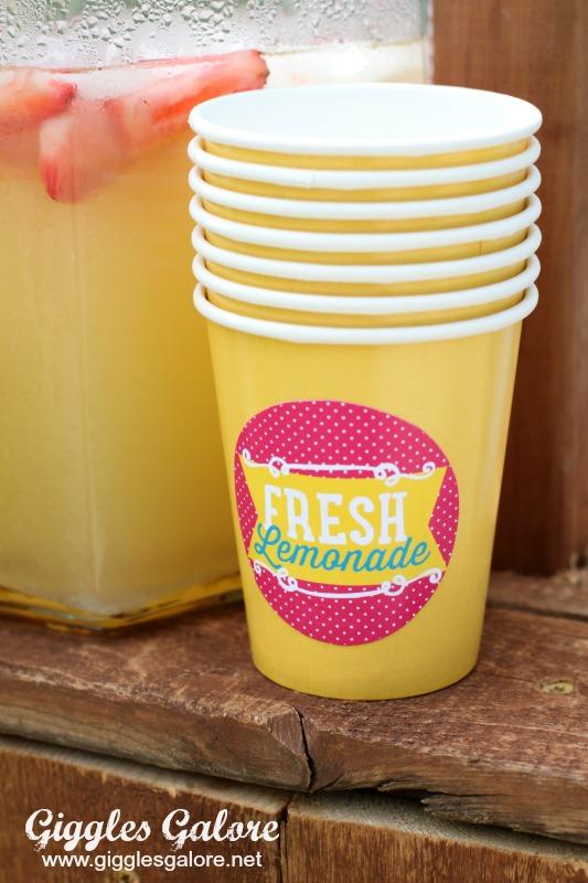 Lemonade Stand Cups