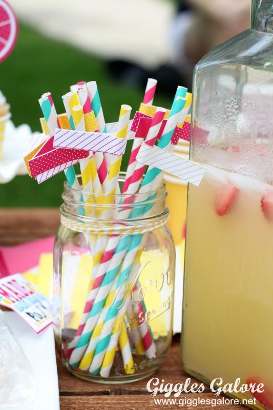 Lemonade Stand Straws Giggles Galore