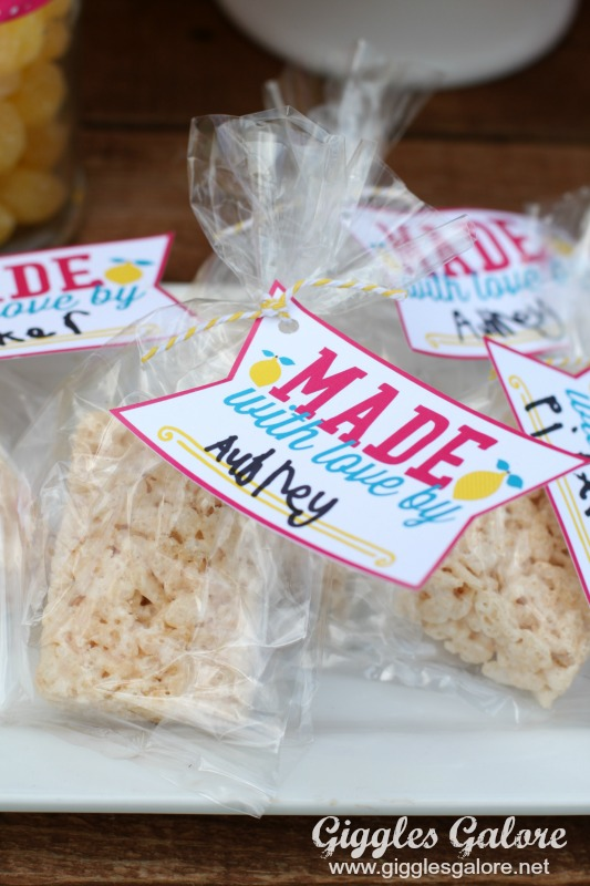 Made with Love Lemonade Stand Treats
