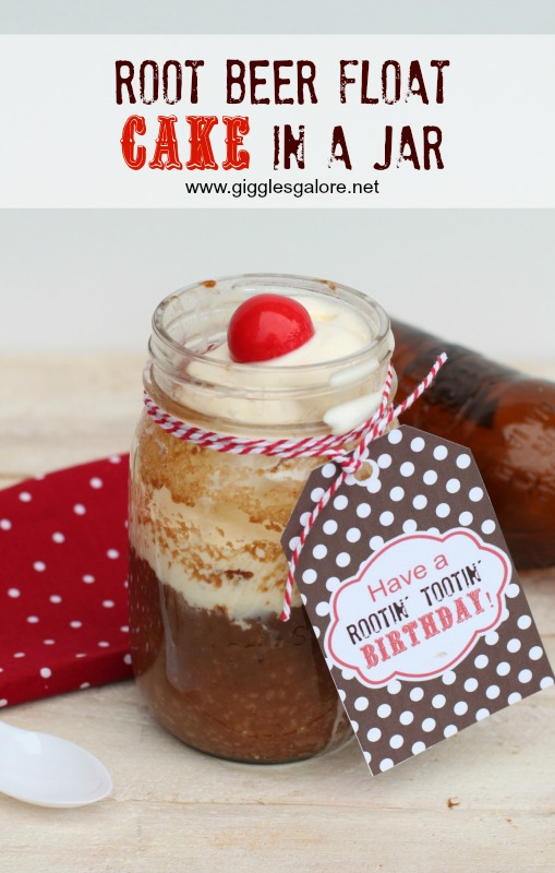 Root Beer Float Cake In a Jar by Giggles Galore