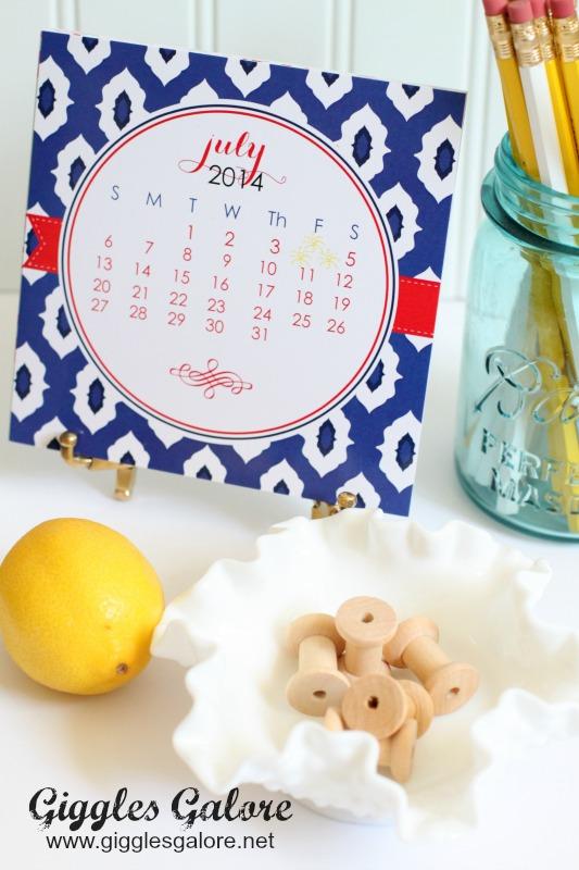 A Blissful Nest Calendar