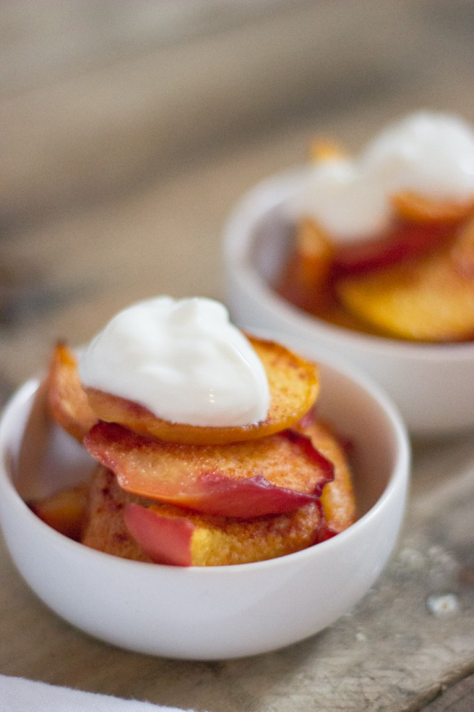 Baked Cinammon Peaches