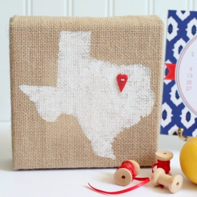 Home State Burlap Canvas