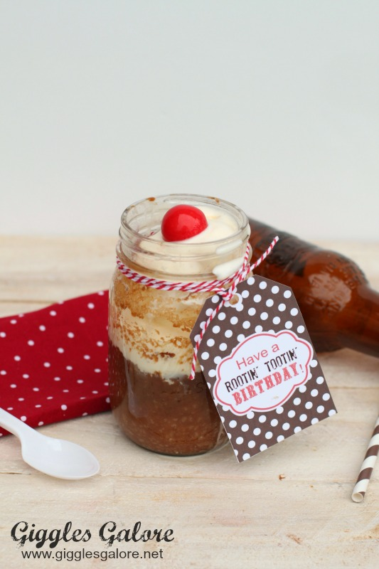 root beer float cake root float cake in a jar giggles galore 7110