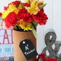 A+ Teacher Gift Cork Board Vase