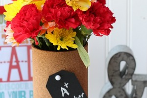 Cork Board Vase Teacher Gift