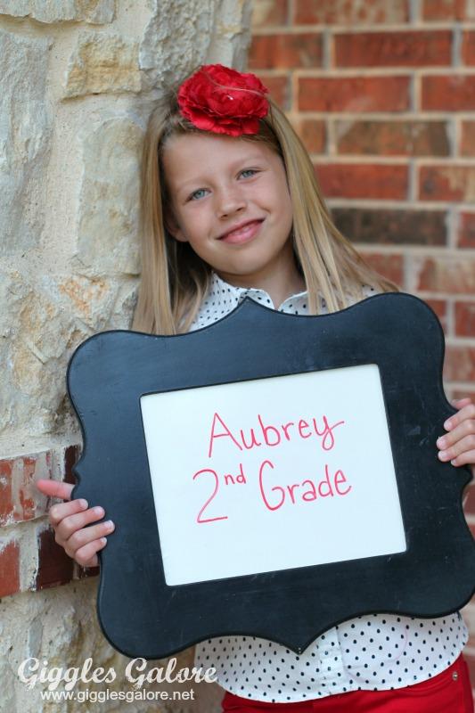 Aubrey 1st Day of 2nd Grade