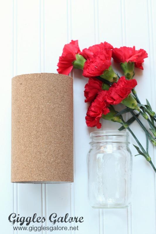 Cork Board Vase Mason Jar