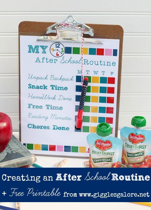 Creating an After School Routine + Free Printable by Giggles Galore