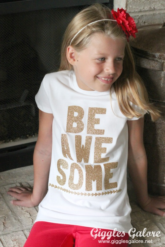 DIY Cricut Explore Be Awesome Shirt