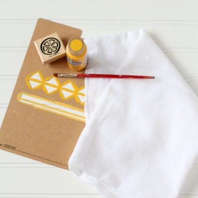DIY Hand Painted Tea Towels