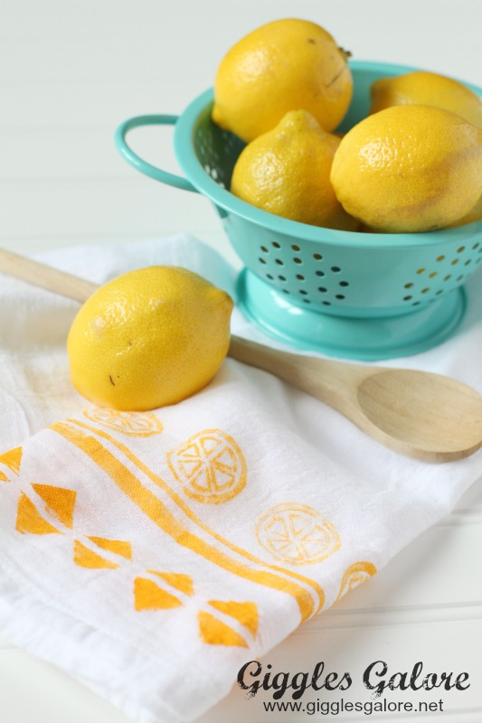 DIY Hand Painted Dish Towel
