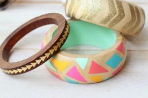 DIY Painted Wooden Bracelets