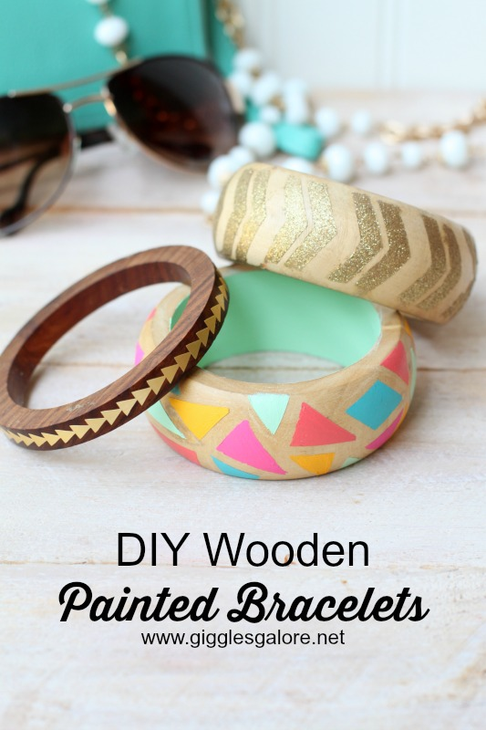 DIY Wooden Painted Bracelets_Giggles Galore