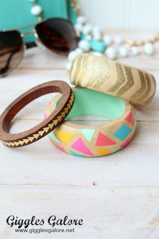 Giggles Galore Wooden Painted Bracelets