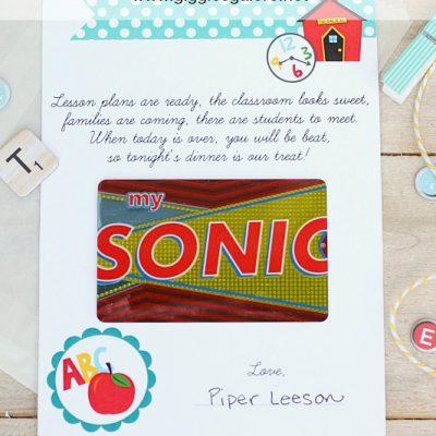 Meet the Teacher Gift Idea