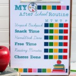 Creating an After School Routine + Free Printable