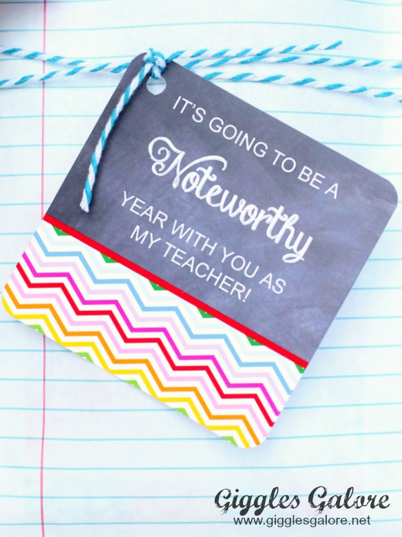 Noteworthy Teacher Gift Tag