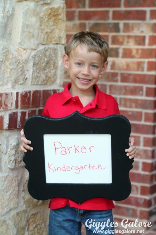 Parker 1st Day of Kindergarten