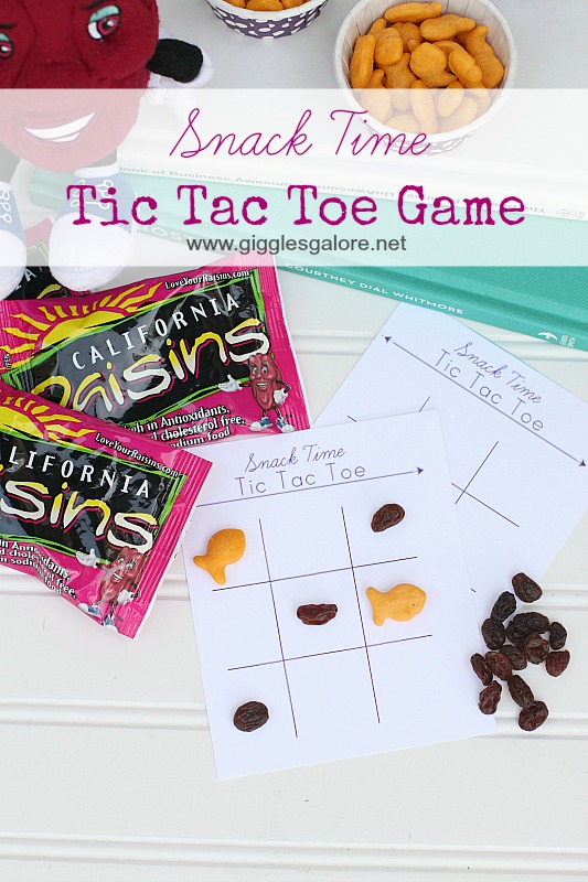Snack Time Tic Tac Toe Game by Giggles Galore