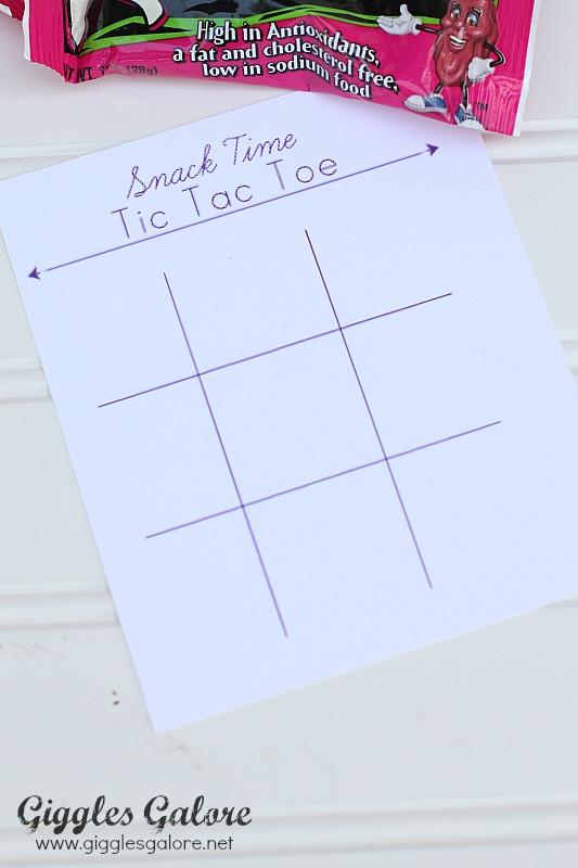 Snack Time Tic Tac Toe Printable