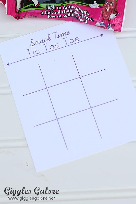 Snack Time Tic Tac Toe Printable