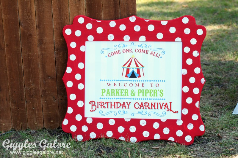 Birthday Carnival Cut It Out Frame