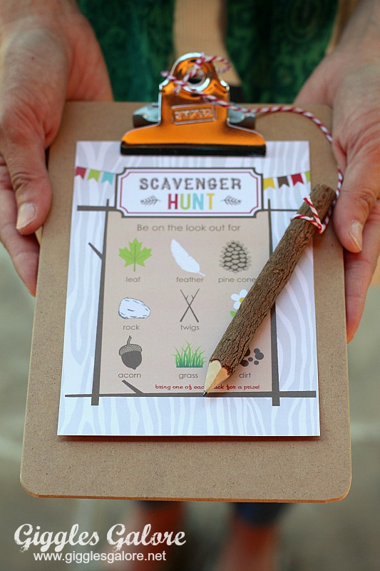 Camping Party Scavenger Hunt