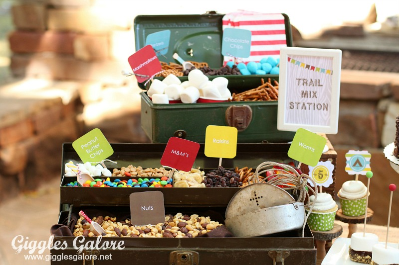 Camping Party Trail Mix Station