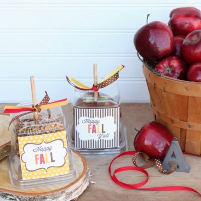 Caramel Apples and Happy Fall Y'all Printable