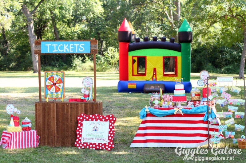 Carnival Birthday Party with Cut It Out Frame