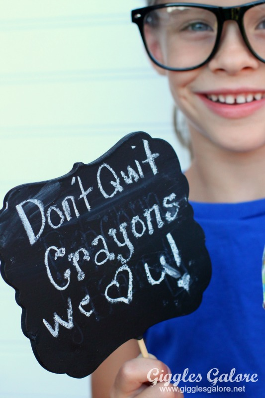 Dont Quit Crayons Sign