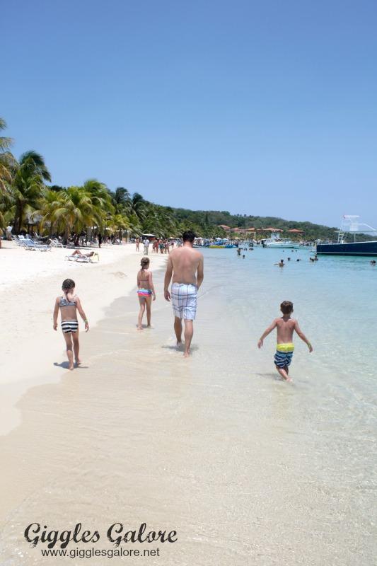 Exploring the Beach in Roatan