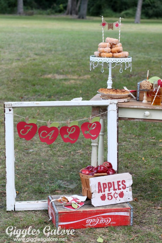 Fall Apple Sign
