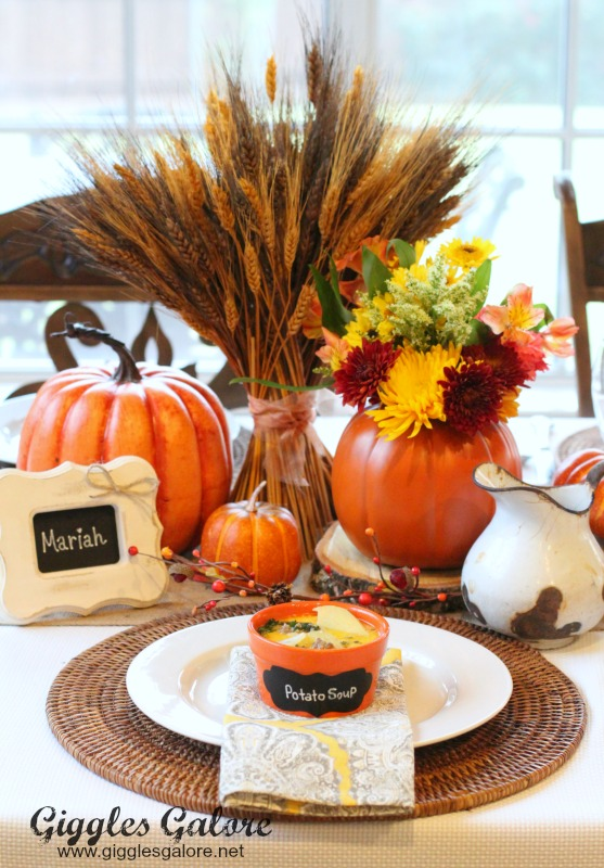 Fall Dinner Party Table Setting
