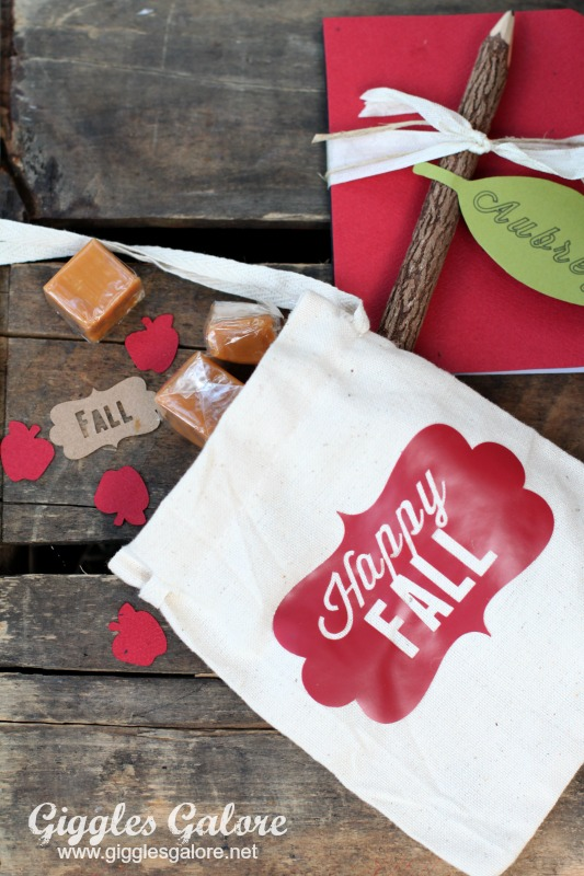 Happy Fall Favor Bag