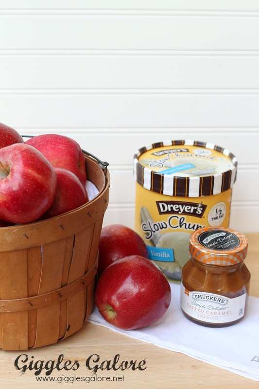 Ingredients Salted Caramel Apple Sundaes