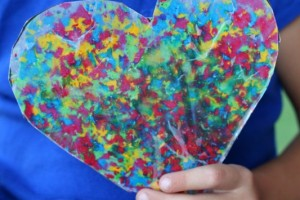 Wax Paper Melted Crayon Art