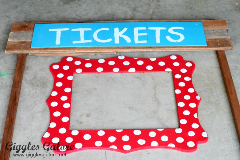 Red and White Polka Dot Frame