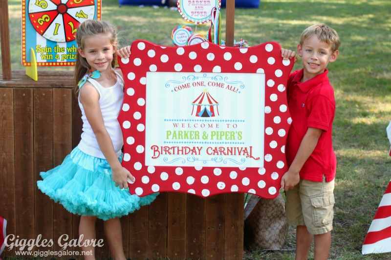 Welcome to Birthday Carnival Sign_Cut It Out Frame