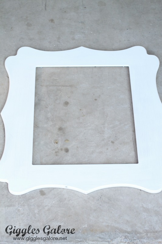 Whitewash Cut It Out Frame