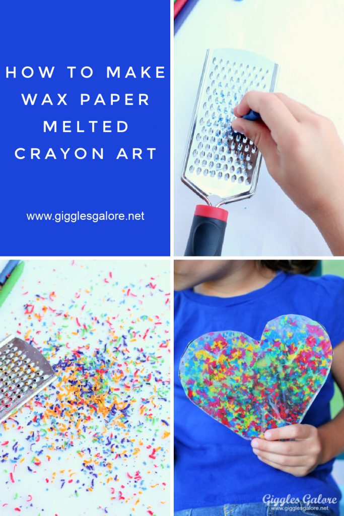 How to make wax paper crayon art