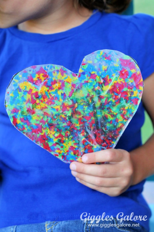 Melted wax crayon art craft giggles galore