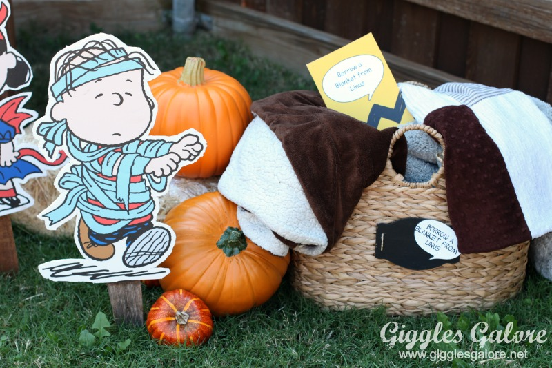 Borrow a Blanket from Linus Charlie Brown Movie Party