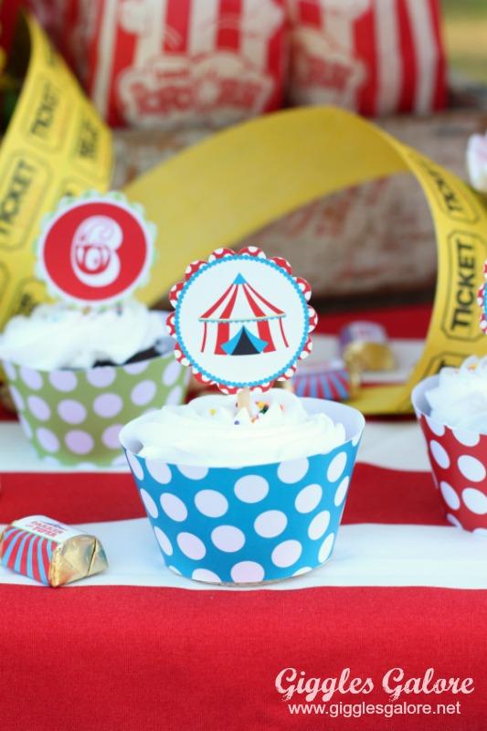Carnival Cupcake