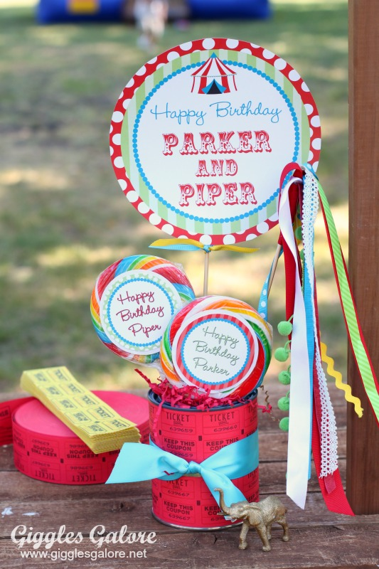 Carnival Party Ticket Decorations