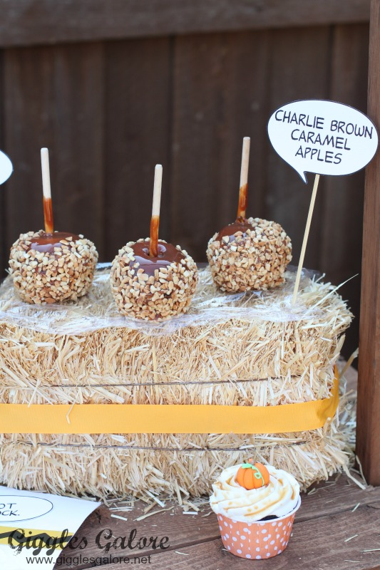 Charlie Brown Caramel Apples